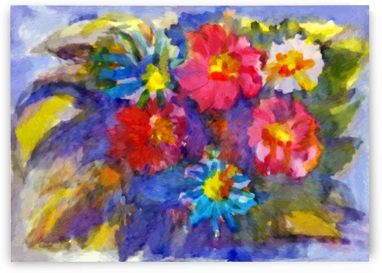 Vivid flowers in the garden  by Dobrotsvet Art