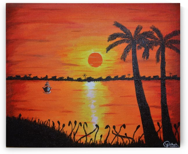Sunset Painting by Vinit Shah
