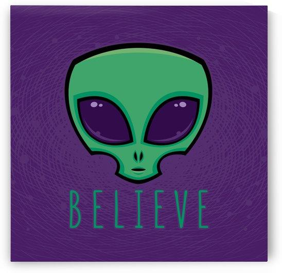 Believe Alien Head by fizzgig