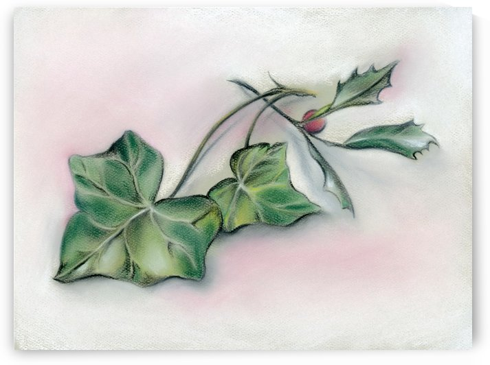 Ivy Leaves and Holly by MM Anderson