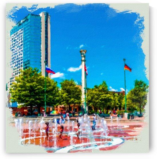 Atlanta Olympic Fountain by Darryl Brooks