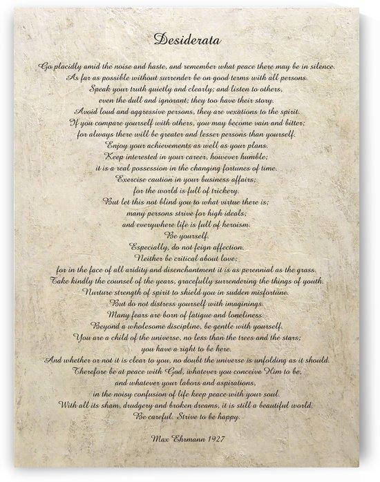 Desiderata Poem By Max Ehrmann Nr. 1001 by Edit Voros