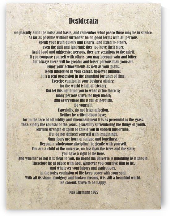 Desiderata Poem By Max Ehrmann Nr. 1002 by Edit Voros