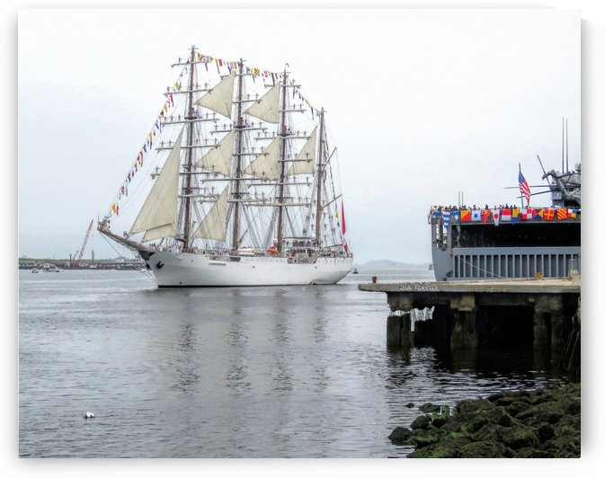 Tall ship Union by Photography by Janice Drew