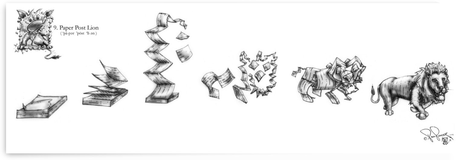 9 Paper Post Lion by P2