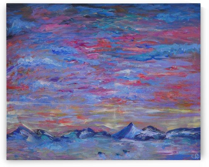 Longs Peak Winter Horizon with Waterfowl by Chris Rutledge