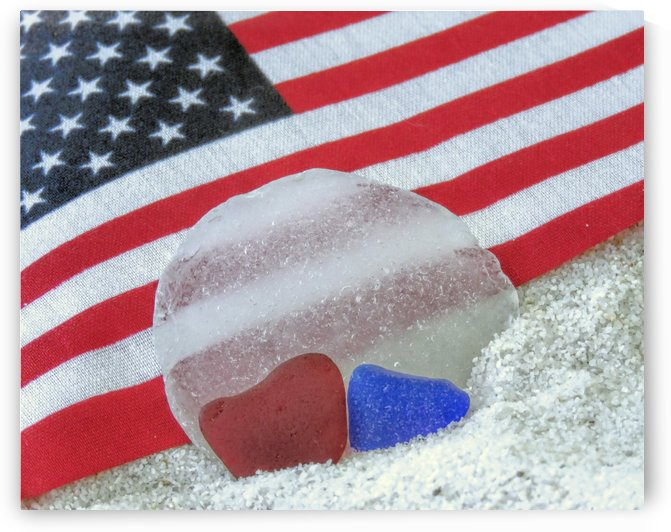 Patriotic Sea Glass Colors by Photography by Janice Drew
