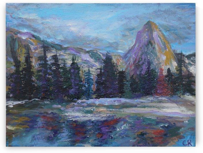Lone Eagle Peak reflected in Mirror Lake Indian Peaks Wilderness by Chris Rutledge
