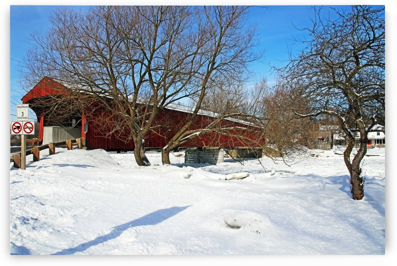 West Montrose Covered Bridge No Trucks No Buses by Deb Oppermann