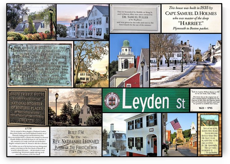 Leyden Street Plymouth MA by Photography by Janice Drew