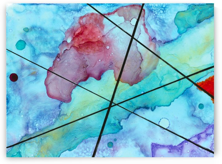 Blue under Lines  by Victoria Lucas Creations