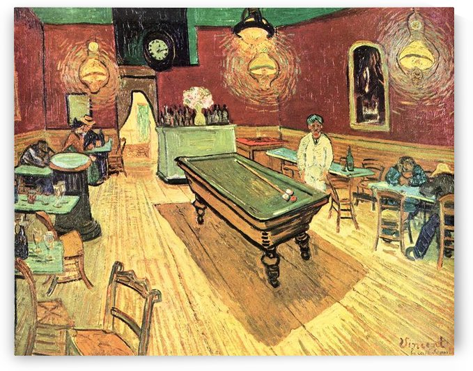 The Night Cafe on Place Lamartine in Arles by Van Gogh by Van Gogh