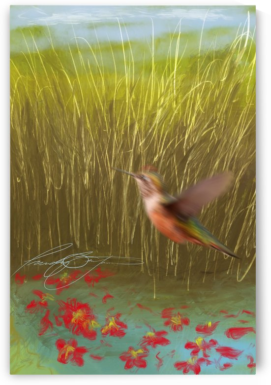 Hummingbird by Afrocentric Painter