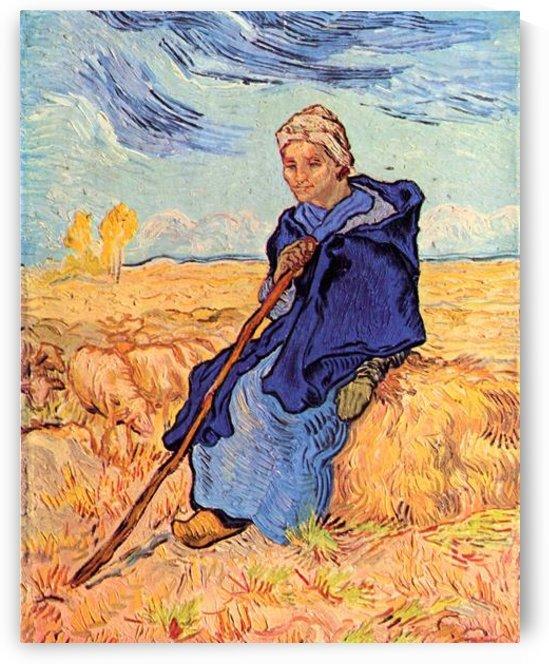 The shepherdess by Van Gogh by Van Gogh