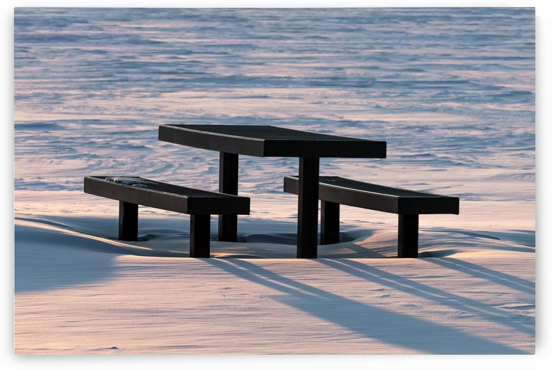 Really Cold Picnic Area by Garald Horst
