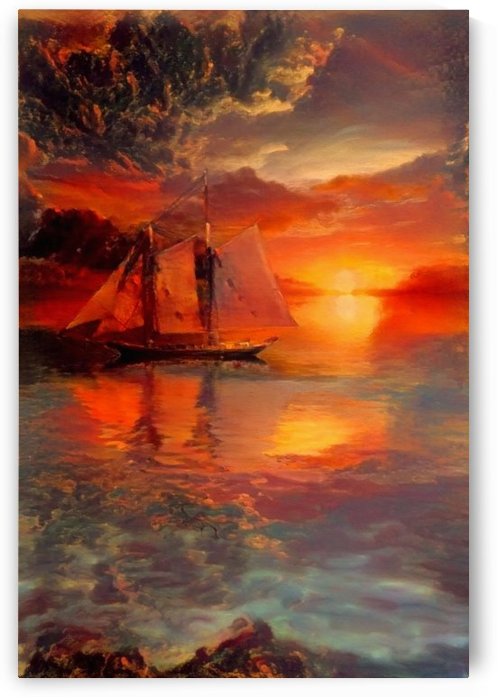 Sunset Sailing by Bruce Rolff