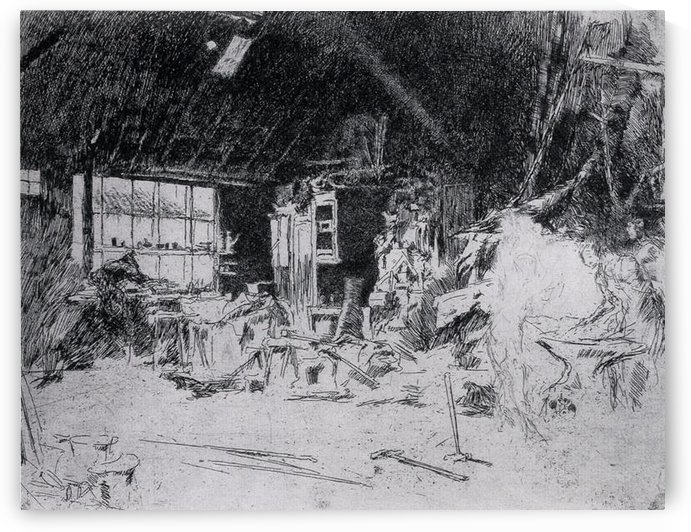 The smithy by Whistler by Whistler