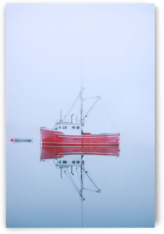New Brunswick - fishing boat reflected in water by Alexandra Draghici