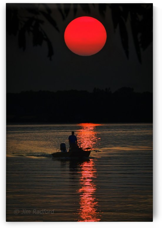 Fishing at Sunset by James Radford