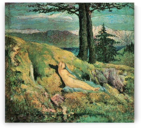 The source by Giovanni Segantini by Giovanni Segantini