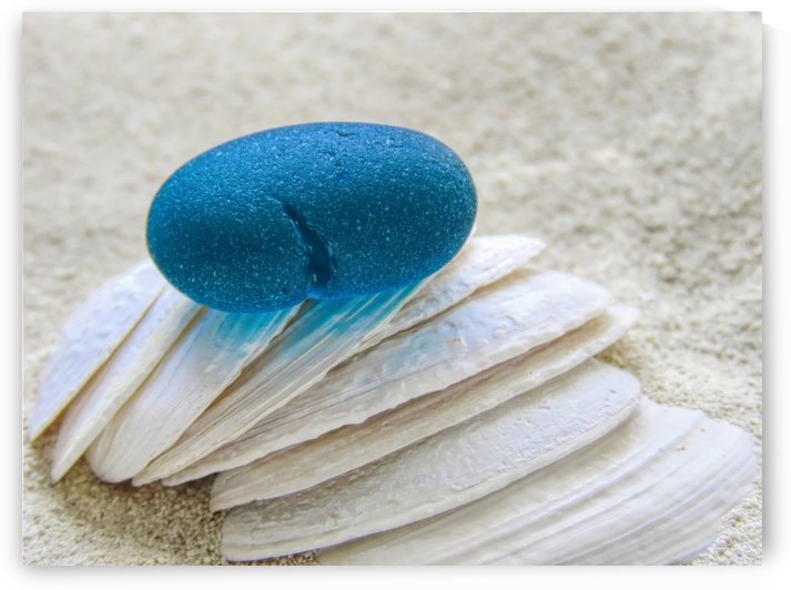 Teal sea glass by Photography by Janice Drew