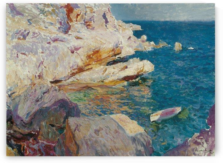 El bote blanco by Joaquin Sorolla