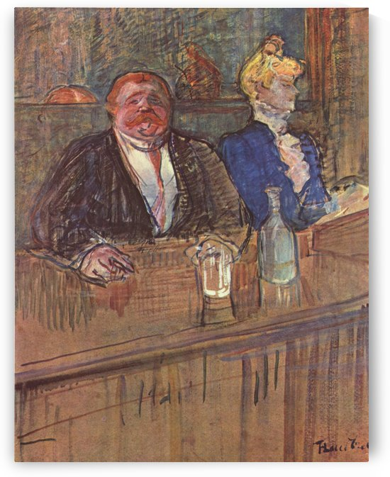 The Bar by Henri de Toulouse-Lautrec