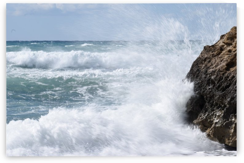 Spring Seascape - rock and waves by Puzbie
