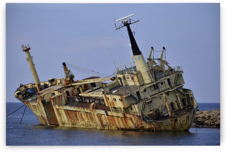 Edro III Shipwreck - Paphos Cyprus 2 by Puzbie