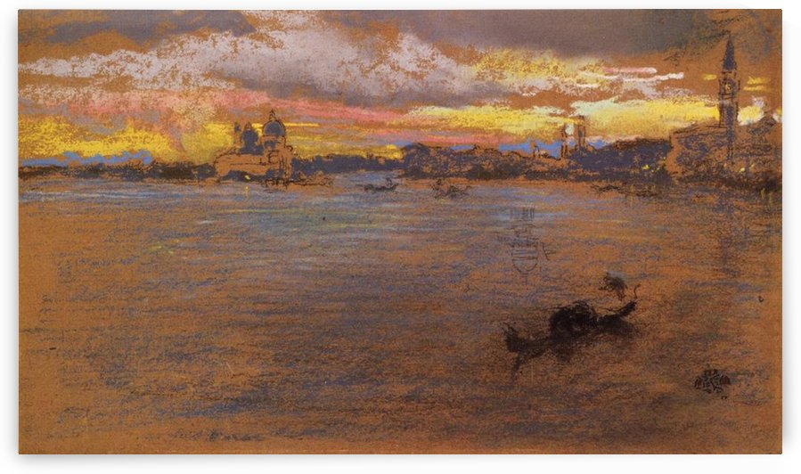 The Storm at Sunset by Whistler by Whistler