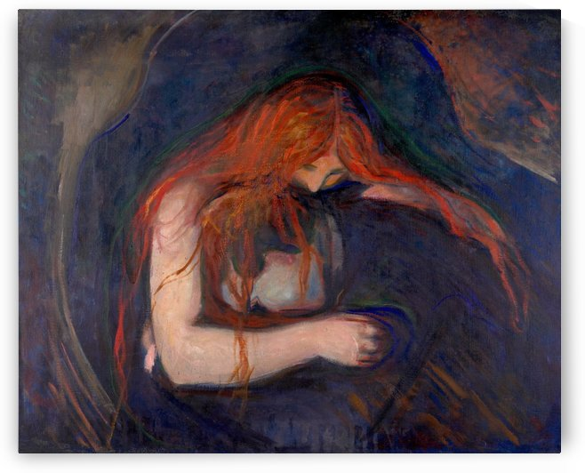 Vampire by Edvard Munch