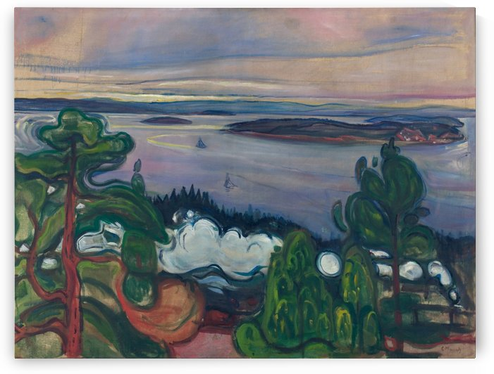 Train Smoke by Edvard Munch