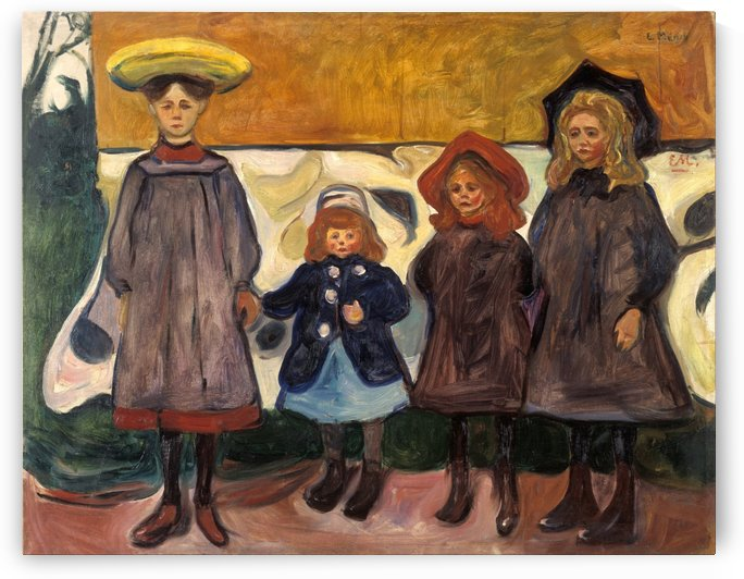 Four Girls by Edvard Munch