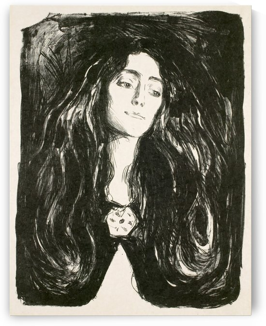 The Brooch by Edvard Munch