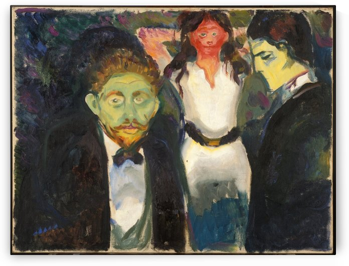 Jealousy by Edvard Munch