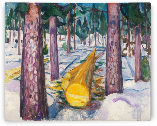The Yellow Log by Edvard Munch