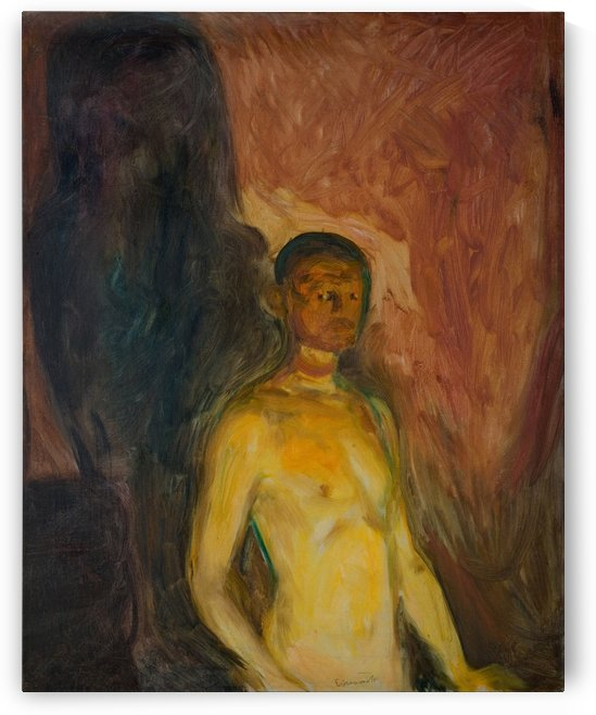 Self-Portrait in Hell by Edvard Munch