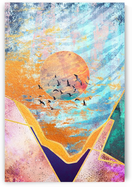 Abstract Sunset - Illustration VI by Art Design Works