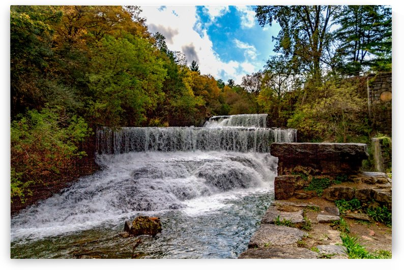 Cascade Mills Waterfall  by William Norton Photography