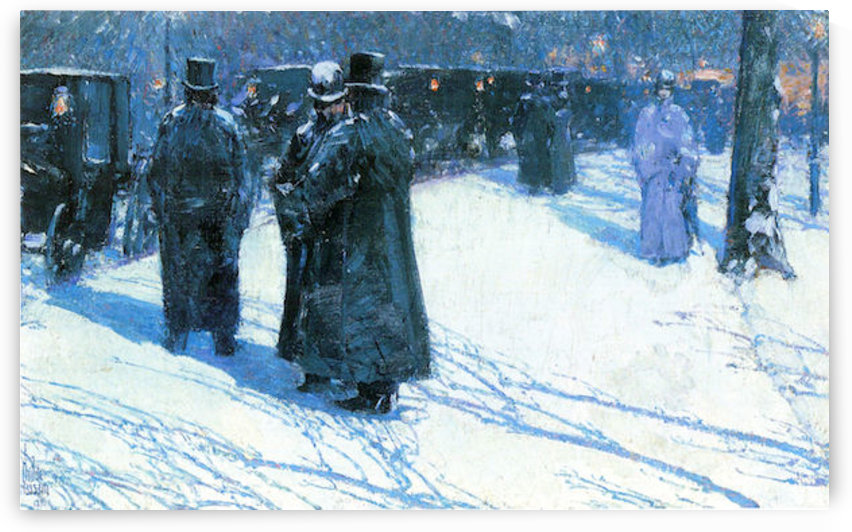 Nighttime, Madison Square by Hassam by Hassam