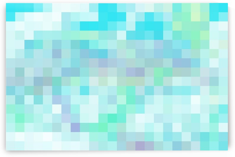 Abstract Pixel Picture -Ocean shades  by Puzbie