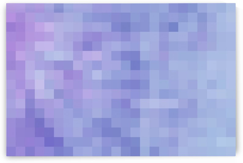 Abstract Pixel Picture - Blue shades  by Puzbie