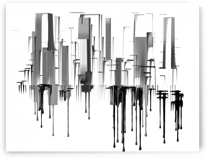Abstract Cityscape by Bruce Rolff