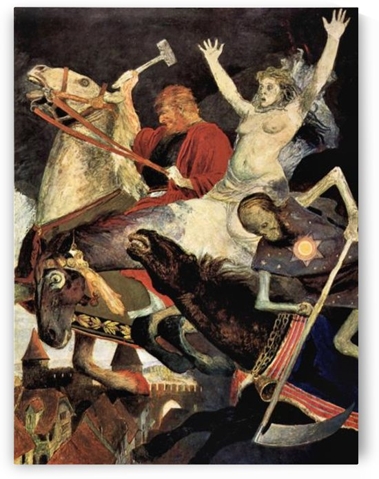 The war by Arnold Bocklin by Arnold Bocklin