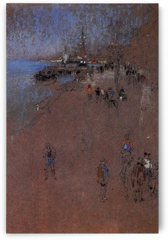 The Zattere, harmony in blue and brown by Whistler by Whistler