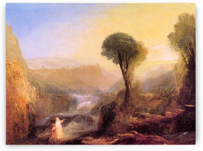 Tivoli - Tobias and the Engel by Joseph Mallord Turner by Joseph Mallord Turner