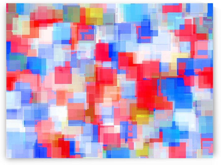 geometric square pattern abstract background in red and blue by TimmyLA