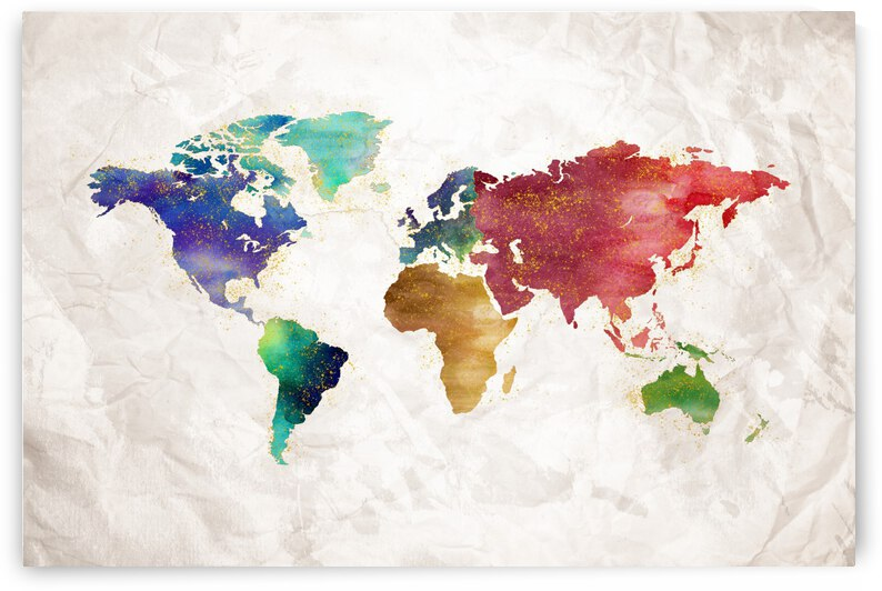Artistic World Map II by Art Design Works