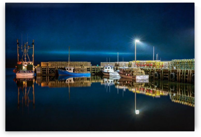 NIGHT TIME AT THE WHARF with textures by Michel Soucy