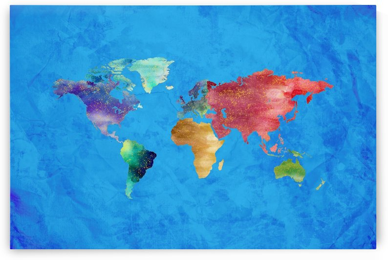 Artistic World Map III by Art Design Works
